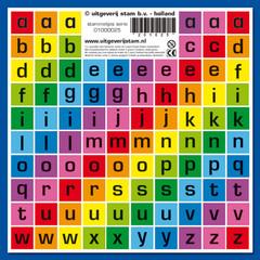 Stammetjes Stickervel letters
