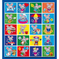 Stammetjes Soomooi muisje - Stickervel