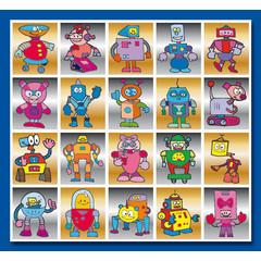 Stammetjes Robotjes - Stickervel