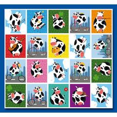 Stammetjes Grappige Koeien - Stickervel