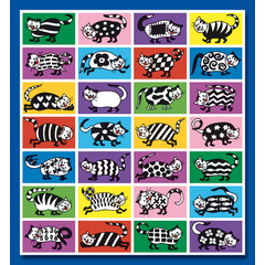 Stammetjes Funny Cats - Stickervel