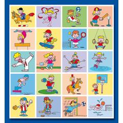 Stammetjes Funny Sport - Stickervel