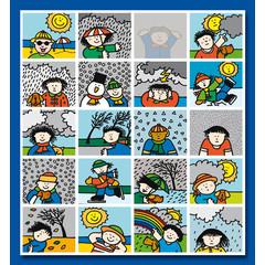 Stammetjes Jaargetijden in beeld- Stickervel