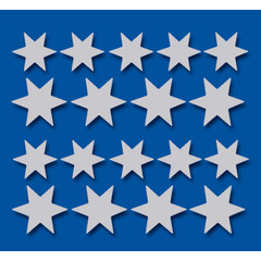 Stammetjes Stickervel zilveren sterren