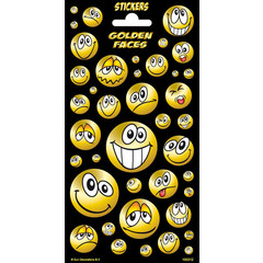 Golden faces twinkle - Stickervel
