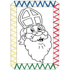 Borduurkaarten Sinterklaas motieven