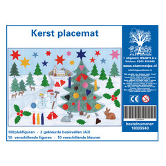 Plakfiguren Kerst placemat