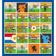 Stammetjes Stickervel oranje voetbal leeuw