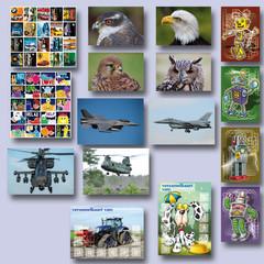 Beloningspakket met kaarten en stickers