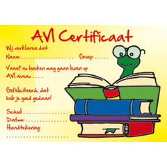 AVI certificaat 1056 boekenwurm