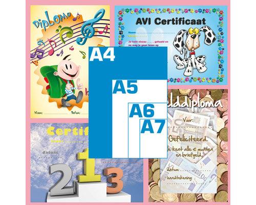 (A4) Diploma's / getuigschriften