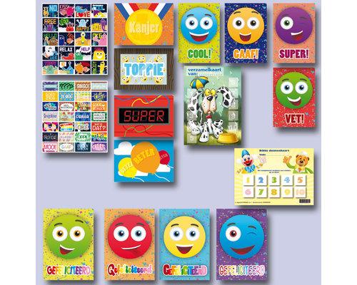 Stickers met kaarten