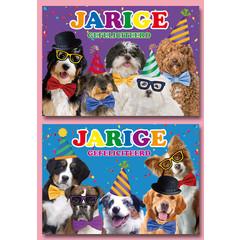 A4 Reuzewenskaarten honden gefeliciteerd