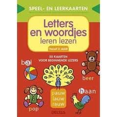 Speel- en leerkaarten - Letters en woordjes leren lezen (+5 j.)