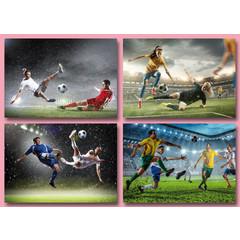 A4  Reuzewenskaarten voetballers in actie