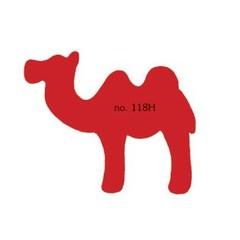 Plakfiguren kameel in gemengde kleuren