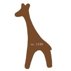 Plakfiguren giraf in gemengde kleuren