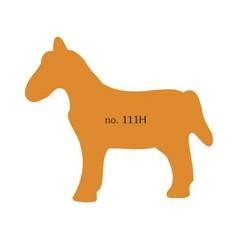 Plakfiguren paard in gemengde kleuren