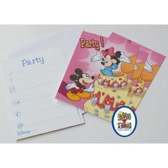 Disney Uitnodigingskaarten Mickey
