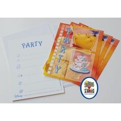 Uitnodigingskaartjes Winnie the Pooh (oranje)