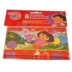 Een blije Dora) - Uitnodigingskaartjes