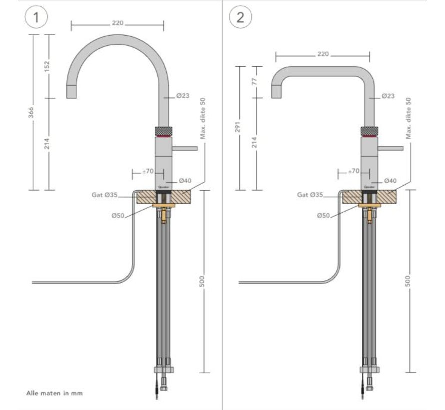 Quooker Pro3 Fusion Round Steel