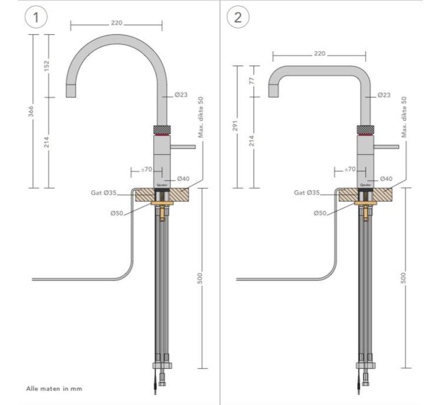 Quooker Combi Fusion Round Steel