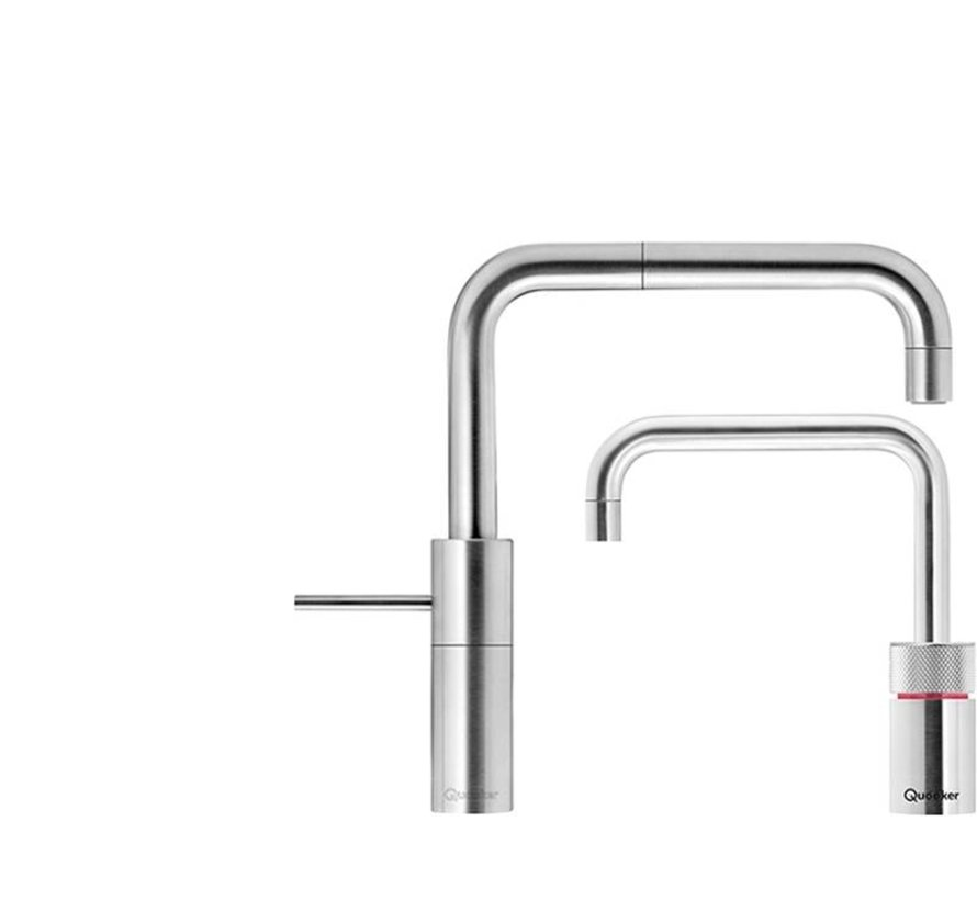 Quooker Pro3 Twintaps Square Steel