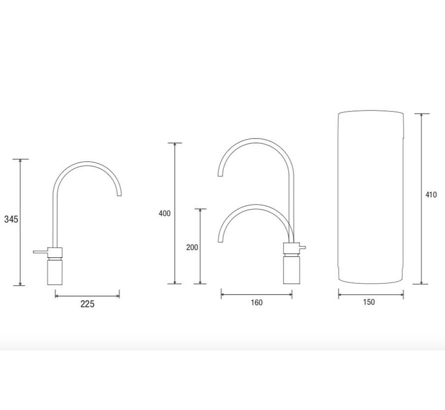Quooker Pro3 Twintaps Round Steel