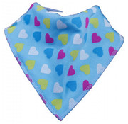 Bandana Bibble slabben Slab Blue Heart