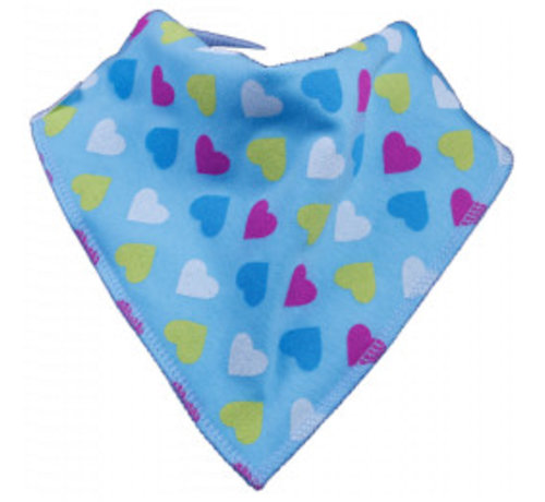 Bandana Bibble slabben Bandana Bibble Slab Blue Heart