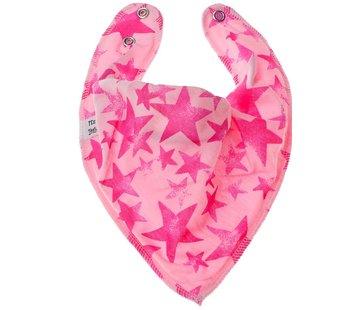 Bandana Bibble slabben Slab Pink Star