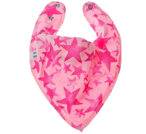 Bandana Bibble slabben Bandana Bibble Slab Pink Star