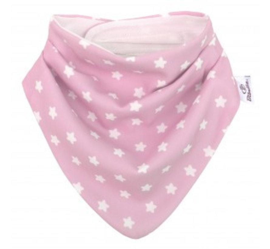 Bibetta Bandana Kwijlslab Pink Star