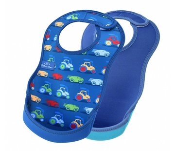 Bibetta  Ultrabib 2-pack Cars / Denim