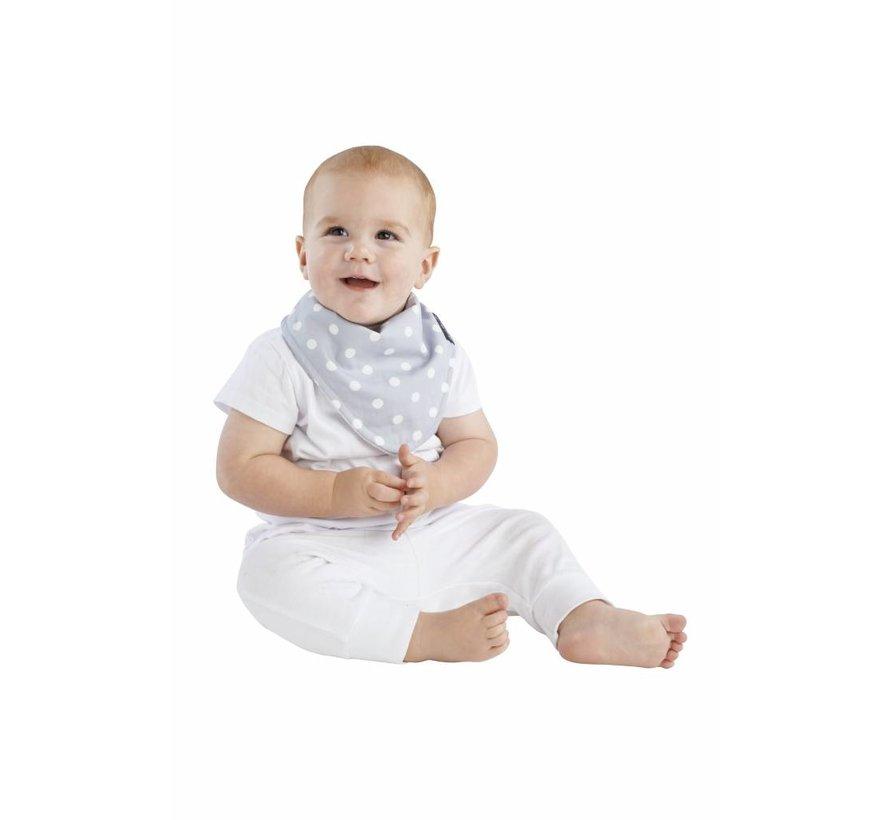 Mum2Mum Fashion Bandana Wonderslab Grijs met witte stippen