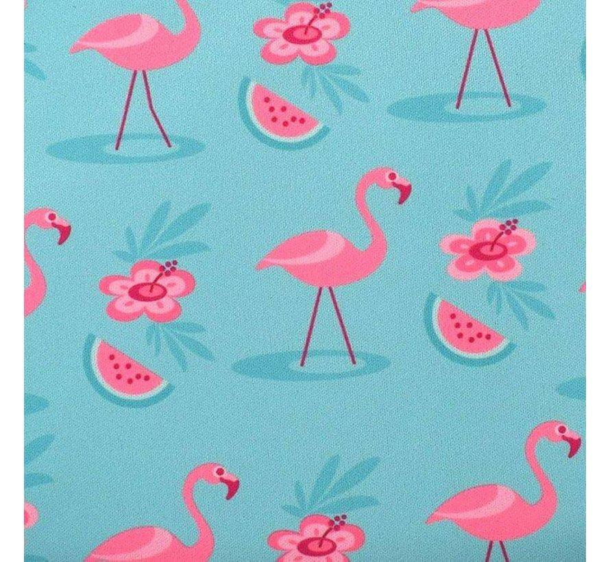 Bibetta Mouwslab Helderblauw Flamingo