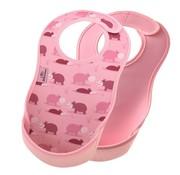 Bibetta  Ultrabib 2-pack Nijlpaard / Roze