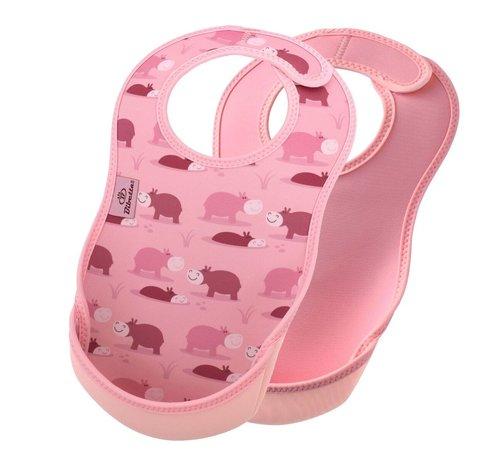 Bibetta  Bibetta Ultrabib 2-pack Nijlpaard / Roze