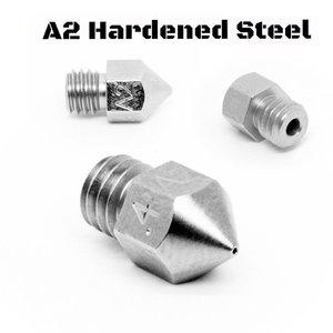 Micro Swiss Micro Swiss - MK8 0,40mm Plated A2 Tool Steel Wear Resistant Nozzle (MakerBot, CraftBot, Creality CR10, Tevo Tornado)