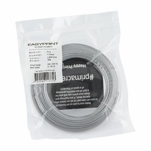 PrimaCreator EasyPrint PLA Sample - 1.75mm - 50 g - Light Grey