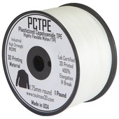 Taulman PCTPE Plasticized Copolyamide TPE Filament  - 1.75 mm - 450g spool - Clear