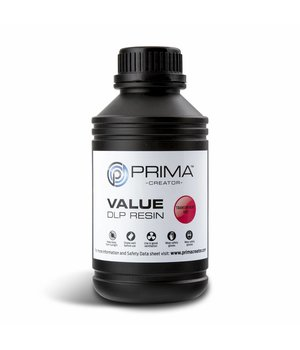 PrimaCreator PrimaCreator Value UV / DLP Resin - 500 ml - Transparent Red