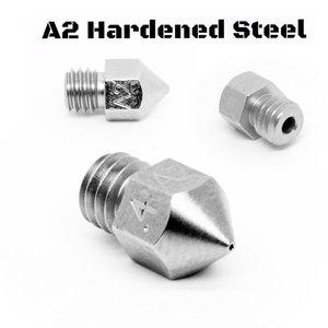 Micro Swiss Micro Swiss - MK8 0,80mm Plated A2 Tool Steel Wear Resistant Nozzle (MakerBot, CraftBot, Creality CR10, Tevo Tornado)