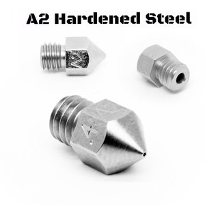 Micro Swiss Micro Swiss - MK8 0,60mm Plated A2 Tool Steel Wear Resistant Nozzle (MakerBot, CraftBot, Creality CR10, Tevo Tornado)