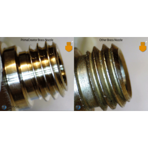PrimaCreator PrimaCreator Volcano Compatible Brass Nozzle 0,4 mm - 1,75 mm - 1 pcs