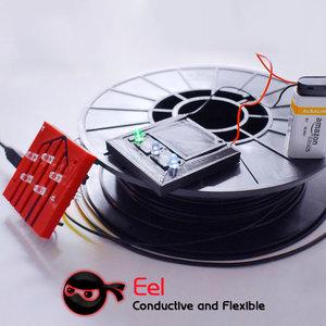 NinjaTek NinjaTek EEL Conductive Flexible - 1.75mm - 0.5 kg - Black