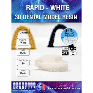 Monocure3D Monocure 3D - Rapid Dental Resin - 1,25 l - White