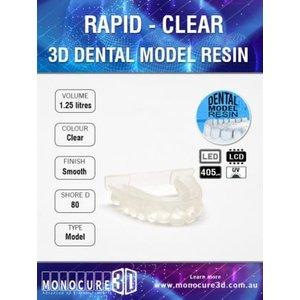 Monocure3D Monocure 3D - Rapid Dental Resin - 1,25 l - Clear