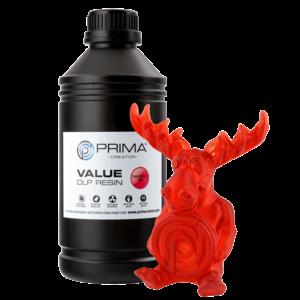 PrimaCreator PrimaCreator Value UV / DLP Resin - 1000 ml - Transparent Red